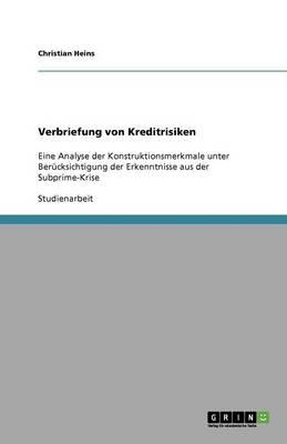 Verbriefung Von Kreditrisiken (Paperback)