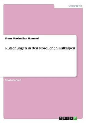 Rutschungen in Den Nordlichen Kalkalpen (Paperback)