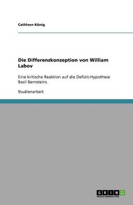 Die Differenzkonzeption Von William Labov (Paperback)