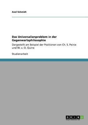 Das Universalienproblem in Der Gegenwartsphilosophie (Paperback)
