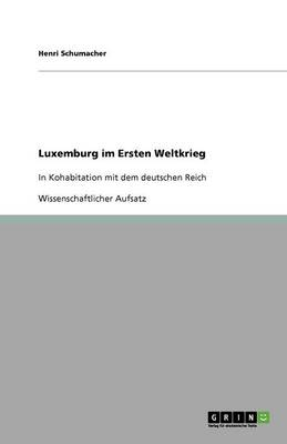 Luxemburg Im Ersten Weltkrieg (Paperback)