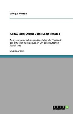 Abbau Oder Ausbau Des Sozialstaates (Paperback)