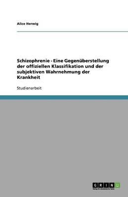 Schizophrenie - Eine Gegenuberstellung Der Offiziellen Klassifikation Und Der Subjektiven Wahrnehmung Der Krankheit (Paperback)