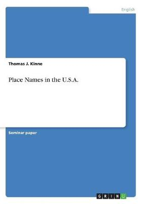 Place Names in the U.S.A. (Paperback)