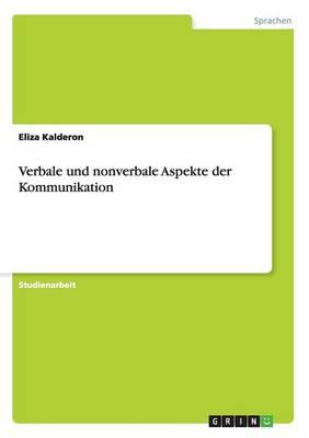 Verbale Und Nonverbale Aspekte Der Kommunikation (Paperback)