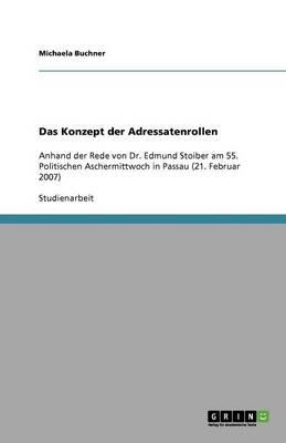 Das Konzept Der Adressatenrollen (Paperback)