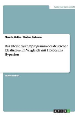 Das aLteste Systemprogramm Des Deutschen Idealismus Im Vergleich Mit Hoelderlins Hyperion (Paperback)