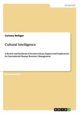 Cultural Intelligence (Paperback)
