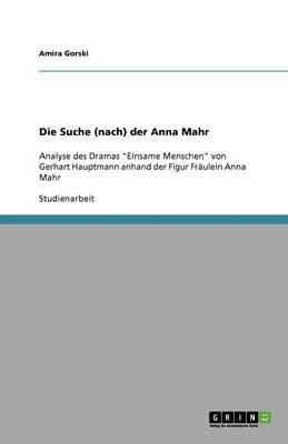 Die Suche (Nach) Der Anna Mahr (Paperback)