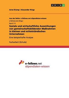 Soziale Und Wirtschaftliche Auswirkungen Von Gemeinschaftsbildenden Manahmen in Kleinen Und Mittelstndischen Unternehmen (Paperback)