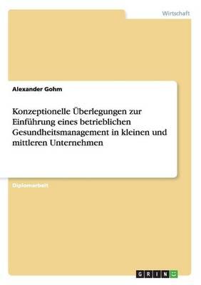 Die Einfuhrung Eines Betrieblichen Gesundheitsmanagement in Kleinen Und Mittleren Unternehmen (Paperback)