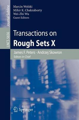 Transactions on Rough Sets X - Transactions on Rough Sets 5656 (Paperback)