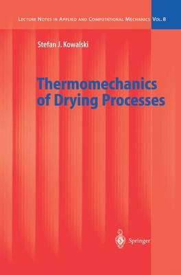 Thermomechanics of Drying Processes - Lecture Notes in Applied and Computational Mechanics 8 (Paperback)