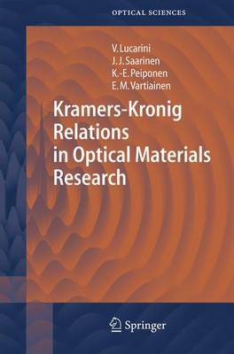 Kramers-Kronig Relations in Optical Materials Research - Springer Series in Optical Sciences 110 (Paperback)