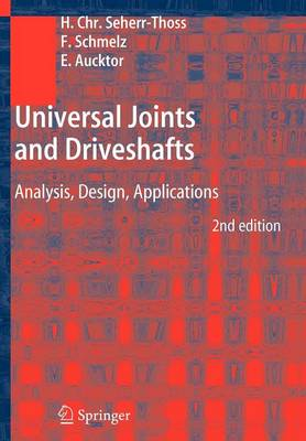 Universal Joints and Driveshafts: Analysis, Design, Applications (Paperback)