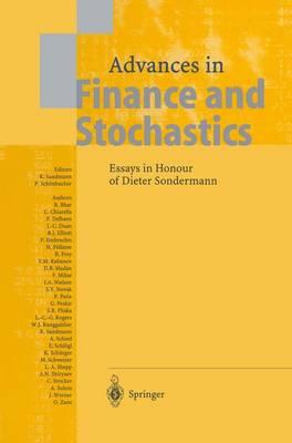 Advances in Finance and Stochastics: Essays in Honour of Dieter Sondermann (Paperback)