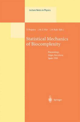 Statistical Mechanics of Biocomplexity: Proceedings of the XV Sitges Conference, Held at Sitges, Barcelona, Spain, 8-12 June 1998 - Lecture Notes in Physics 527 (Paperback)