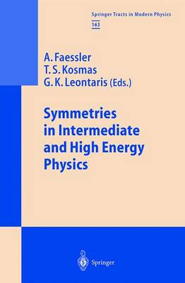 Symmetries in Intermediate and High Energy Physics - Springer Tracts in Modern Physics 163 (Paperback)