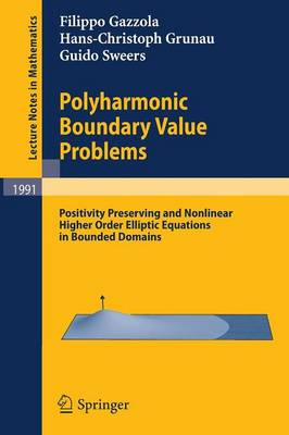 Polyharmonic Boundary Value Problems: Positivity Preserving and Nonlinear Higher Order Elliptic Equations in Bounded Domains - Lecture Notes in Mathematics 1991 (Paperback)