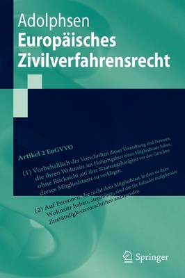 Europaisches Zivilverfahrensrecht (Paperback)