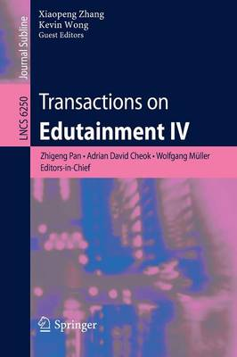 Transactions on Edutainment IV - Transactions on Edutainment 6250 (Paperback)
