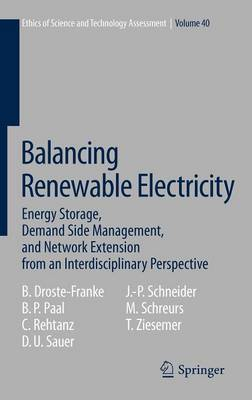 Balancing Renewable Electricity: Energy Storage, Demand Side Management, and Network Extension from an Interdisciplinary Perspective - Ethics of Science and Technology Assessment 40 (Hardback)
