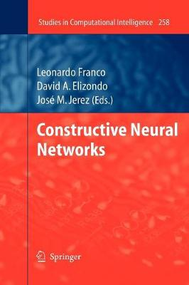 Constructive Neural Networks - Studies in Computational Intelligence 258 (Paperback)