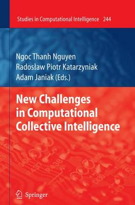 New Challenges in Computational Collective Intelligence - Studies in Computational Intelligence 244 (Paperback)
