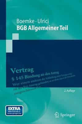Bgb Allgemeiner Teil - Springer-Lehrbuch (Paperback)