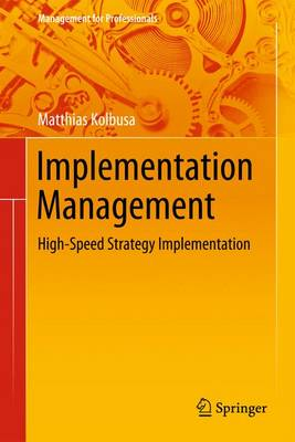 Implementation Management: Developing Strategies Which Survive - Management for Professionals (Hardback)