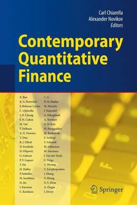 Contemporary Quantitative Finance: Essays in Honour of Eckhard Platen (Paperback)