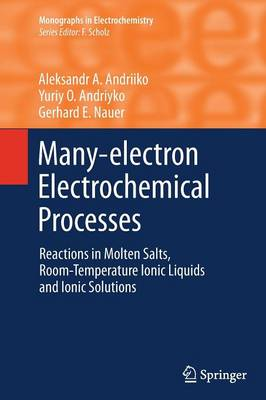 Many-electron Electrochemical Processes: Reactions in Molten Salts, Room-Temperature Ionic Liquids and Ionic Solutions - Monographs in Electrochemistry (Paperback)