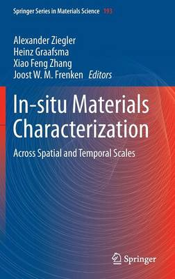 In-situ Materials Characterization: Across Spatial and Temporal Scales - Springer Series in Materials Science 193 (Hardback)