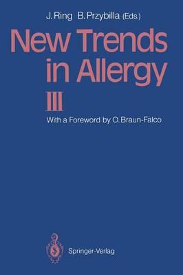 New Trends in Allergy III (Paperback)