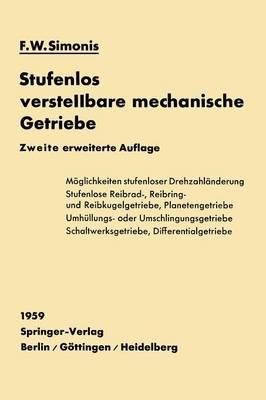 Stufenlos Verstellbare Mechanische Getriebe (Paperback)