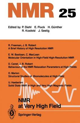 NMR at Very High Field - NMR Basic Principles and Progress 25 (Paperback)