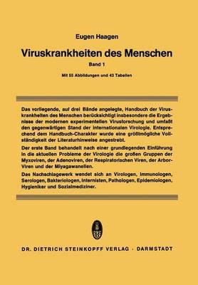 Viruskrankheiten Des Menschen: Unter Besonderer Ber�cksichtigung Der Experimentellen Forschungsergebnisse (Paperback)