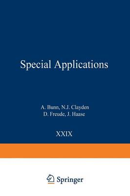 Special Applications - NMR Basic Principles and Progress 29 (Paperback)