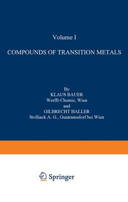 Compounds of Transition Metals - Organometallic Compounds Supplements 1-3 / 1 (Paperback)