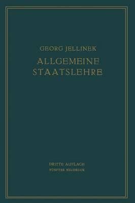 Allgemeine Staatslehre: Manuldruck (Paperback)