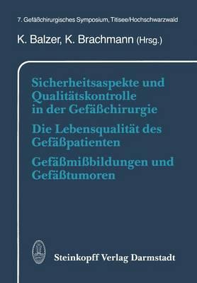 Sicherheitsaspekte Und Qualit�tskontrolle in Der Gef��chirurgie Die Lebensqualit�t Des Gef��patienten Gef��mi�bildungen Und Gef��tumoren: 7. Gef��chirurgisches Symposium, Titisee/Hochschwarzwald (Paperback)