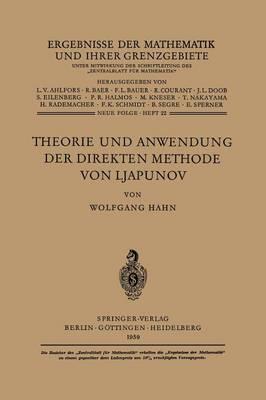 Theorie Und Anwendung Der Direkten Methode Von Ljapunov - Ergebnisse Der Mathematik Und Ihrer Grenzgebiete. 2. Folge 22 (Paperback)