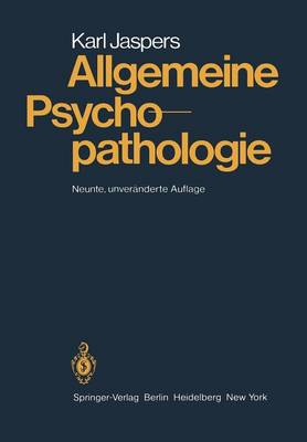 Allgemeine Psychopathologie (Paperback)