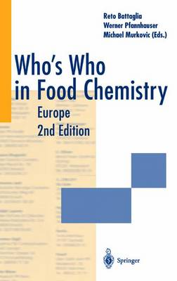 Who's Who in Food Chemistry: Europe (Paperback)