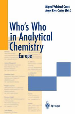 Who's Who in Analytical Chemistry: Europe (Paperback)