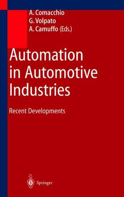 Automation in Automotive Industries: Recent Developments (Paperback)
