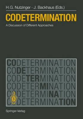 Codetermination: A Discussion of Different Approaches (Paperback)