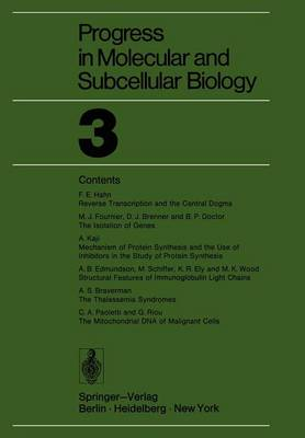 Progress in Molecular and Subcellular Biology 3 - Progress in Molecular and Subcellular Biology 3 (Paperback)