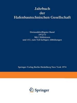 1972/73 - Jahrbuch der Hafenbautechnischen Gesellschaft 33 (Paperback)