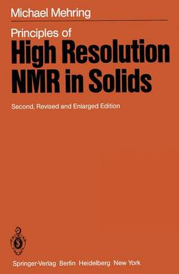 Principles of High Resolution NMR in Solids (Paperback)